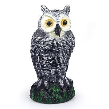 Exceptionnel SCHOME Scarecrow Small Fake Owl Decoy   Garden Defense Owl   Bird Repellent  Against Mice,
