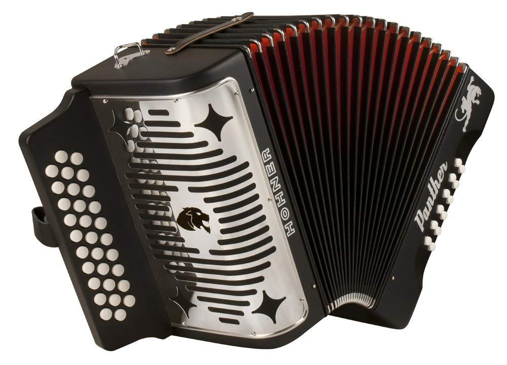 Hohner Black Panther Diatonic Accordion w/ FREE BOOK by Hohner Accordions (Image #2)