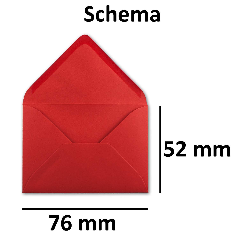 500 Mini Brief-Umschläge - - - Hell-Blau - 5,2 x 7,6 cm - Miniatur KuGrüns mit Nassklebung für Blaumen-Grüße, Grußkarten, Anhänger & Geld-Geschenke - Gustav Neuser® B07PRXTW6H | Realistisch  2f24ae