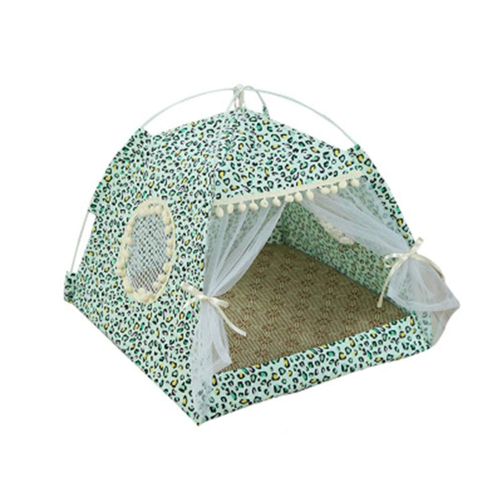 A Medium A Medium Summer Cat Nest, Small Dog Tent Four Seasons Universal Dog Bed Washable Pet Supplies Comfortable Breathable,A,M