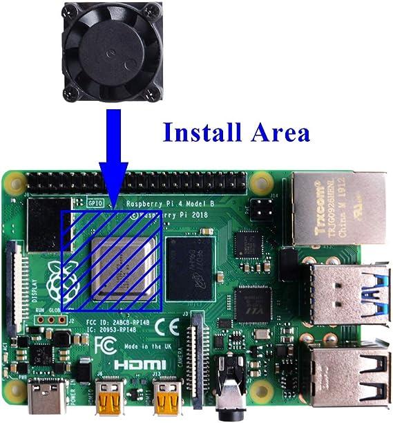 GeeekPi Raspberry Pi 4 Caja con Ventilador, Raspberry Pi 4b Caja ...