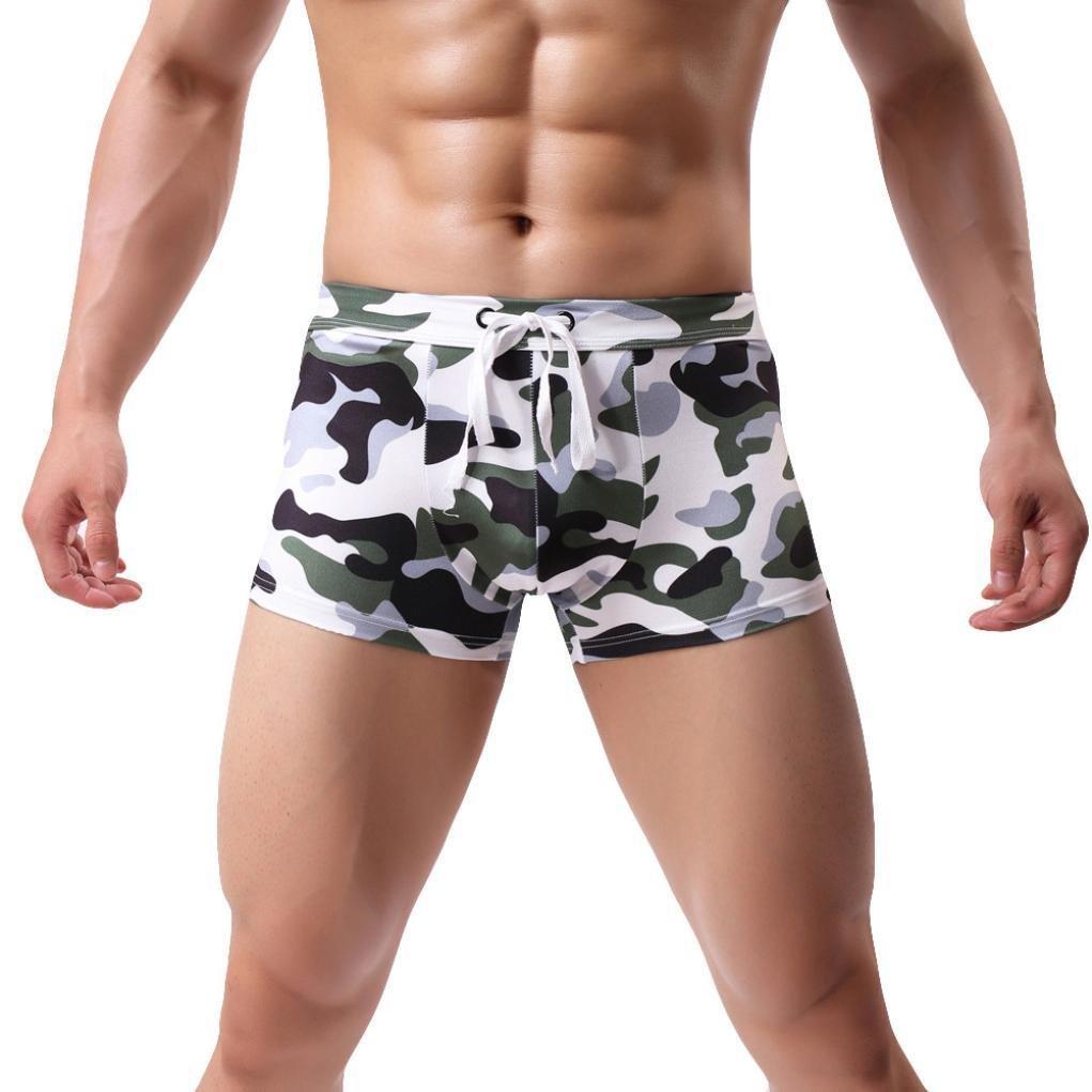 Maillot de Bain Hommes Impression Troncs de Bain Beachwear Boxer de Bain Surf Boardshorts Plage Piscine Ba Zha Hei
