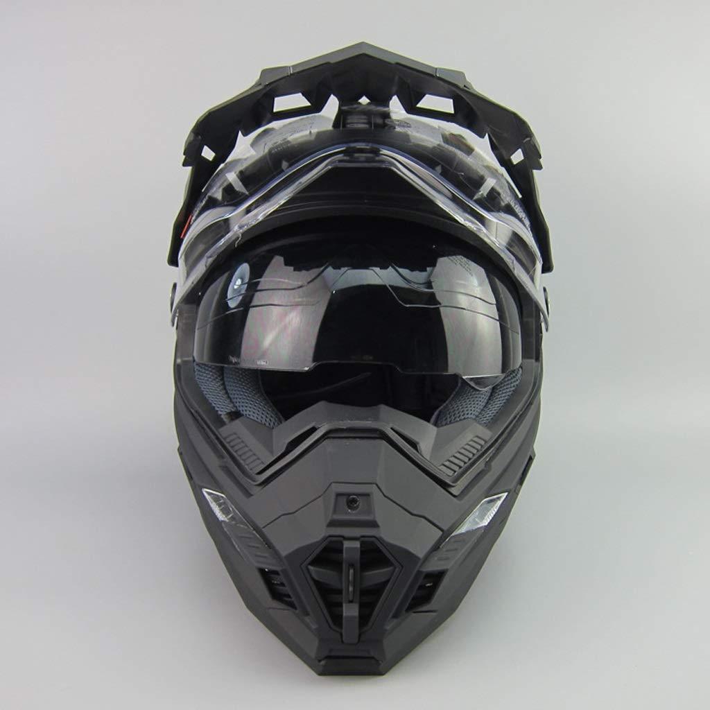 Lsrryd Cascos de la Motocicleta, Visera Integral del Casco Motocross para Honda Yamaha Kawasaki Bandit (Color : E, Tamaño : XXL): Amazon.es: Hogar