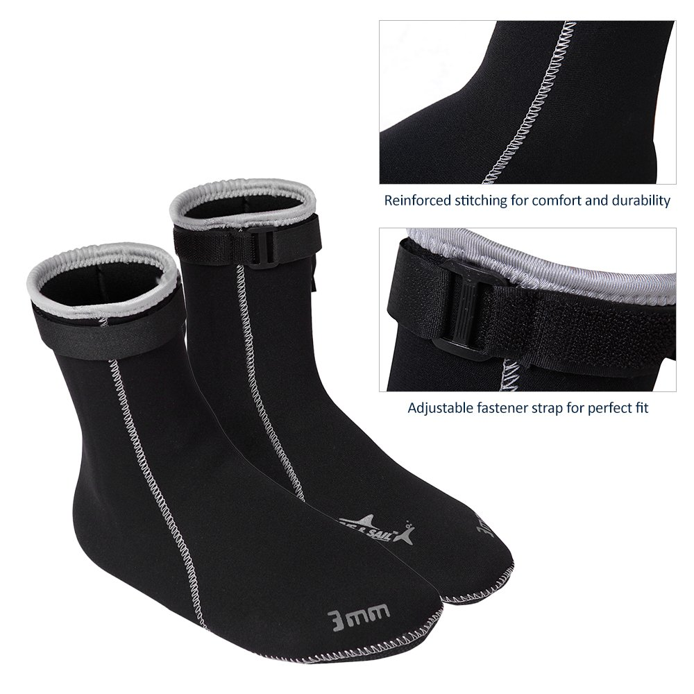 Lixada 3mm Botas de Buceo Zapatos de Agua Calcetines Buceo Snorkeling Botas  de Surf  Amazon.es  Deportes y aire libre 3b2f2fb2eab