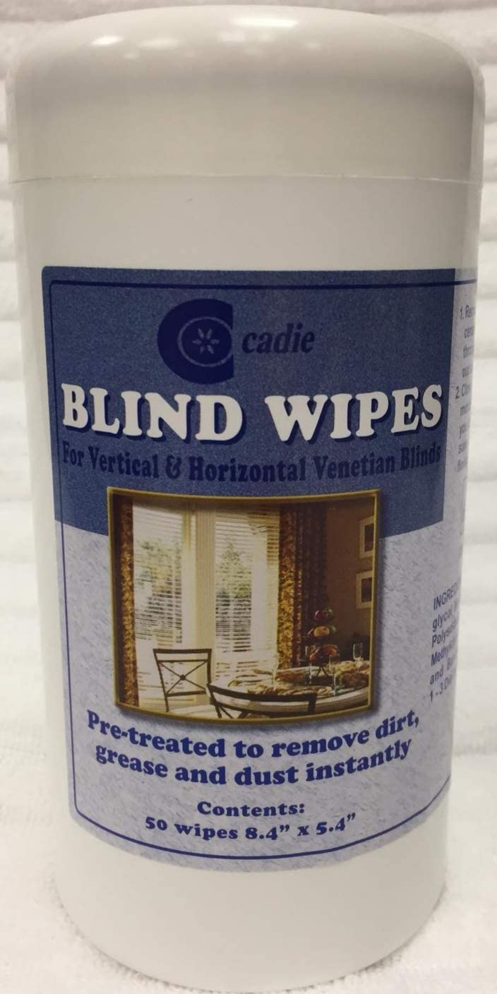 Window Blinds Cleaner Wipes - Streak-Free Household Cleaning Remover for Dirt, Dust and Grease on Windows | Easy Clean Disposable Wet Wipe for Vertical, Horizontal Venetian Blinder (6 Pack)