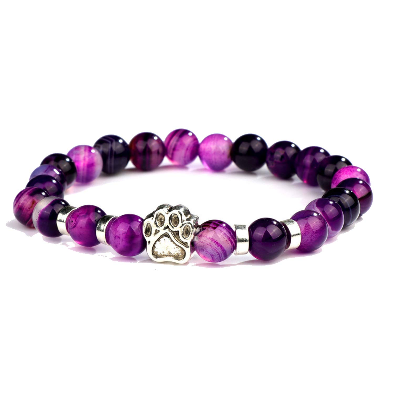 Amazon.com: jfcn-e Natural Stone Mala Bead Yoga Bracelet ...