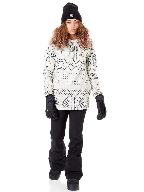 DC Felpa con Cappuccio Snowboard Donna Salem Argento Birch