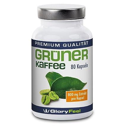 Grüner Kaffee Kapseln - Der Preis-Leistungs-Sieger 2017-1600mg Hochdosiert Original Green Coffee Extrakt + Vitamin C pro Tage