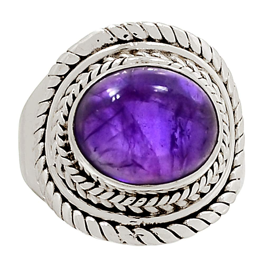 Xtremegems Amethyst 925 Sterling Silver Ring Jewelry Size 9 28630R