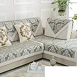 Spring And Summer Sofa Mat/Four Seasons Anti-slip Fabric Sofa Cushions/Thick Fashion Leather Sofa Cushion/Solid Wood Sofa Sets Hood-A 110x160cm(43x63inch)