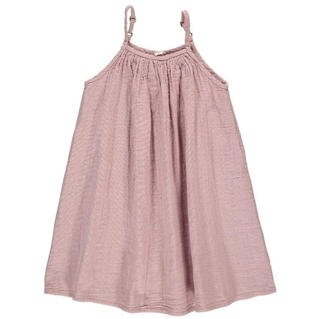 7c9ee73d1c89d Amazon.com: Dsood Infant Dress, Toddler Kids Baby Girl Summer Ruffle  Sleeveless Cotton Plaids Print Casual Dresses: Clothing