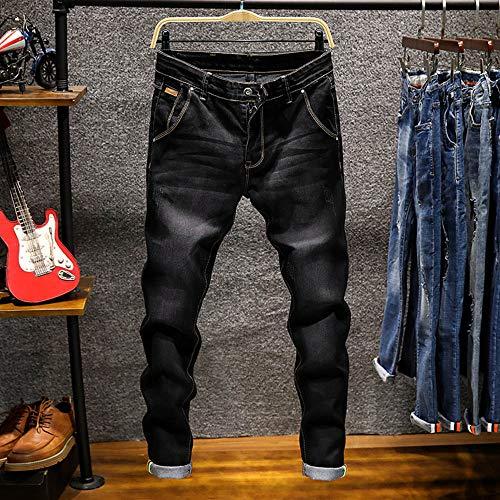 Rcool Fit Jeans Black 38 Elasticizzati Denim Skinny Casuale Uomo 6 Uomo Colore Pantaloni Da Slim 28 wqEvaq