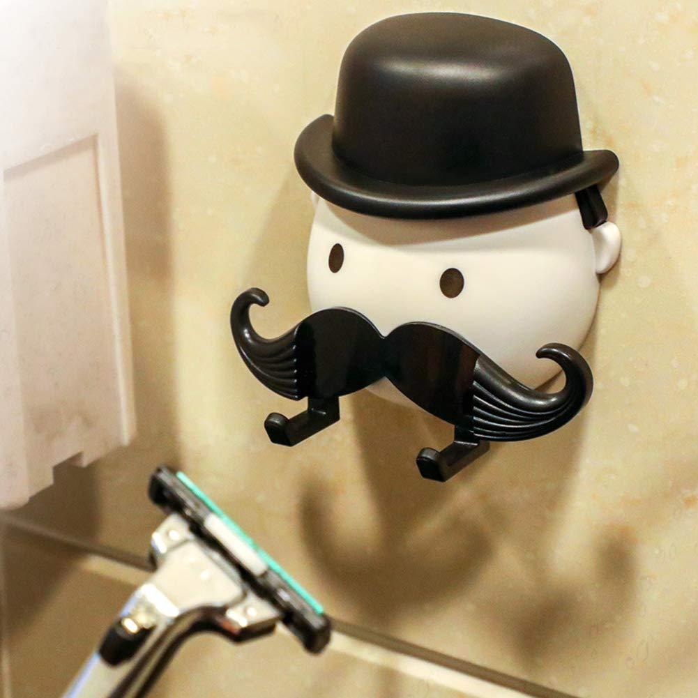 kreativer Gentleman Bart-Rasierhalter Badezimmer-Dusch-Organizer HNYG Halter f/ür Rasierhobel mit Saugnapf