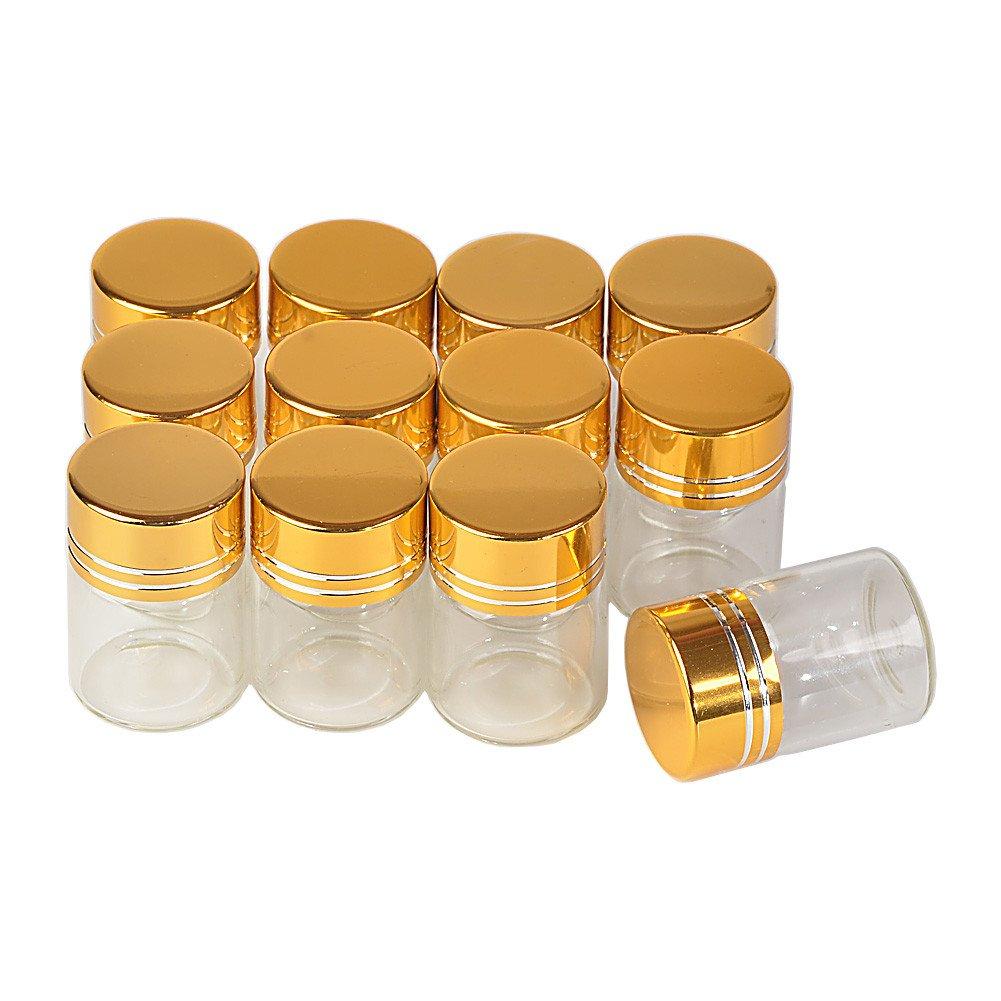 男女兼用 jarvials 5 ml 6 mlガラスWishing ml jarvials 7 5 ml 10 ml 14 mlガラスWishing Bottles withアルミニウムゴールドスクリューキャップ空Essential Oil Saffron Pillパウダー液体ジュエリーJarsウェディングギフトBottles 10ML Jarvials B07BNJ3M92 5ML|100 5ML, 草津市:7a114863 --- egreensolutions.ca