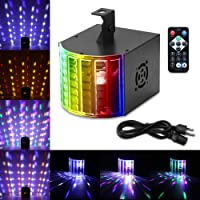 DJ Lights, ALLOMN 18W 7 Colors Disco Party Lights 3 Sound Mode Activated Stage Lighting 7 Channel with Remote Controller for Wedding KTV Indoor Parties, Festivals