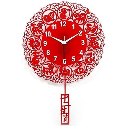 Li-lamp Relojes de Pared, Sala de Estar Moderna Arte Reloj de Pared Reloj