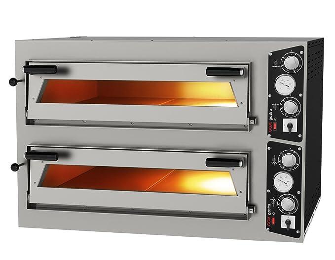 Goo Gastro go3144g gewerbe Pizza Horno 9 + 9 x 35 cm Pizza del ...