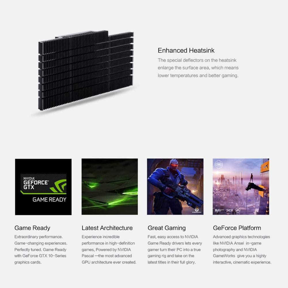 sikiwind Yeston GTX1050Ti 4G GDDR5 Graphics Card 1392MHz 128bit Desktop PC Gaming Video Card