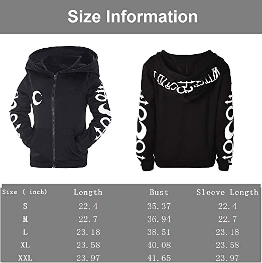 2018 Casual Unisex Skull Coat Sweaters Gothic Punk Zip Hoodies Jacket Sweatshirt