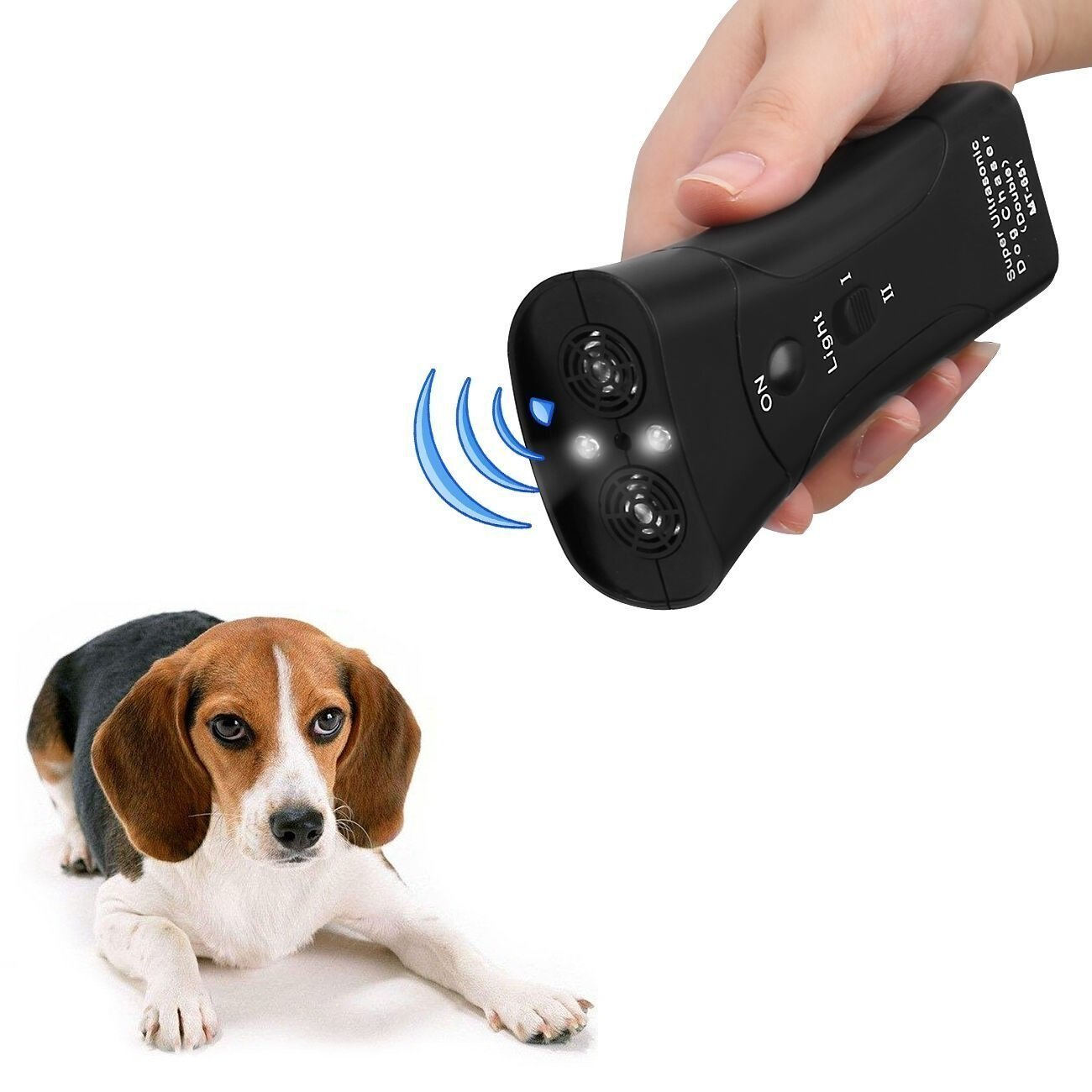 instecho UI239 Repellent Handheld Portable Electronic Trainer with Bright LED Flashlight, Waterproof Dog, S, Sonic Barking Deterrents