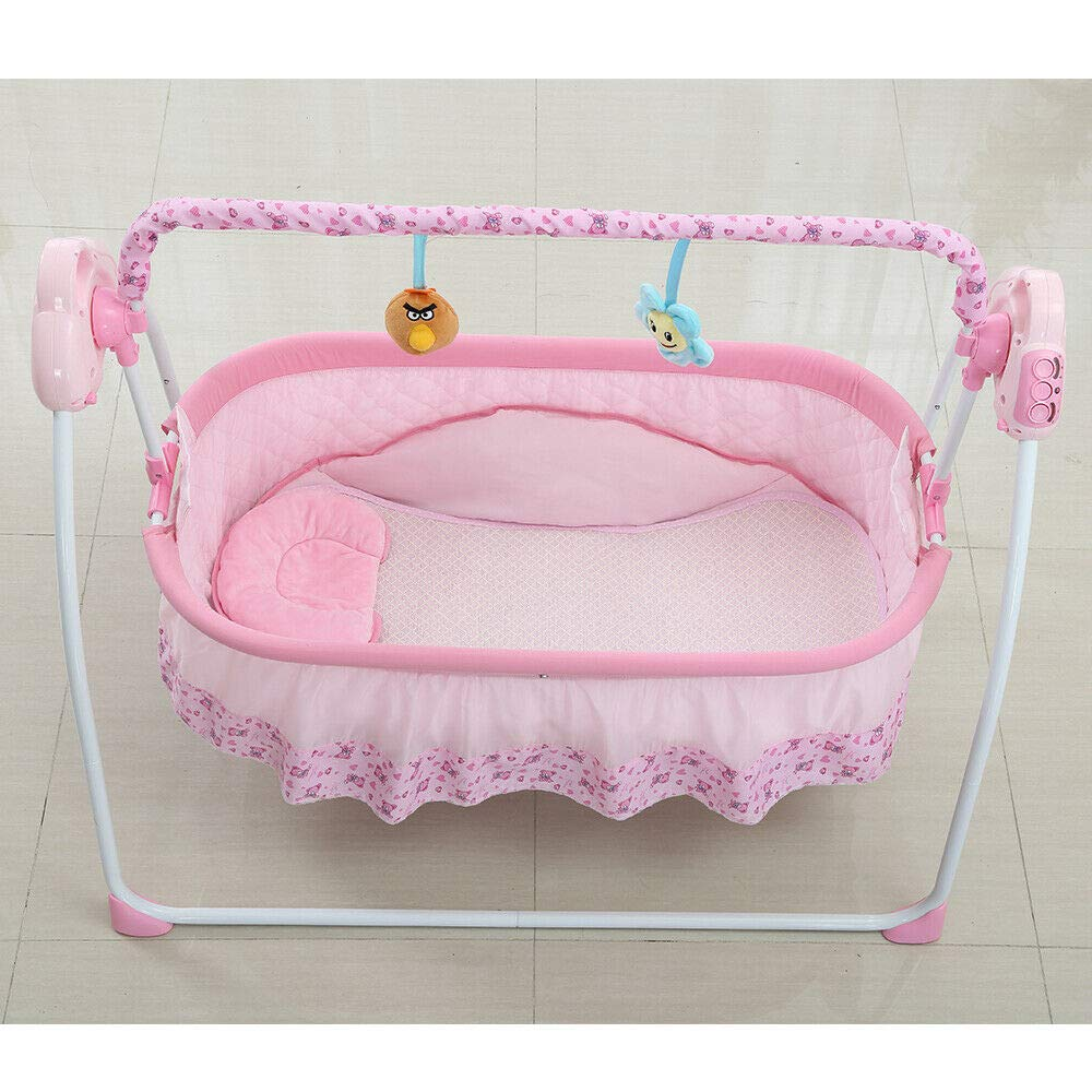 CBBBBAY Electric Baby Cradle Swing Sleeping Rocking Basket Bed Music Bassinet Newborn Crib Bed Swings & Bouncers Activity & Entertainment