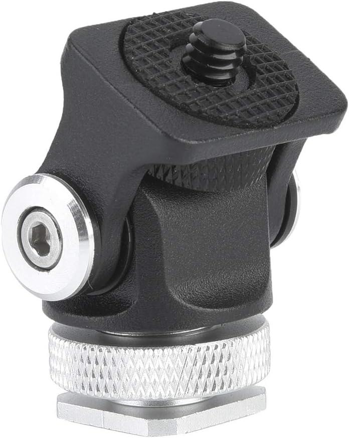6.6lb Hot Shoe Mount Max Load 3kg VBESTLIFE Mini Hot Shoe Mount Monitor Microphone Flash Holder 1//4 Inch Screw Camera Bracket