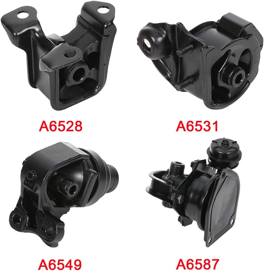ANGLEWIDE Motor Mounts Compatible for 1994-1997 for Honda Accord
