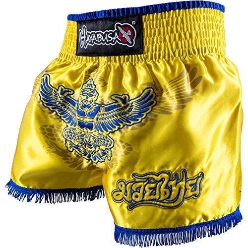 Hayabusa Garuda Muay Thai Shorts (Yellow, - Shorts Hayabusa Thai Muay