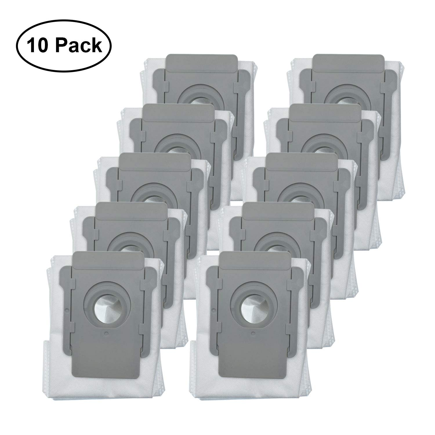 Lemige 10 Packs Vacuum Bags Compatible with iRobot Roomba i7 i7+/Plus s9+ (9550) Clean Base Automatic Dirt Disposal Bags by Lemige