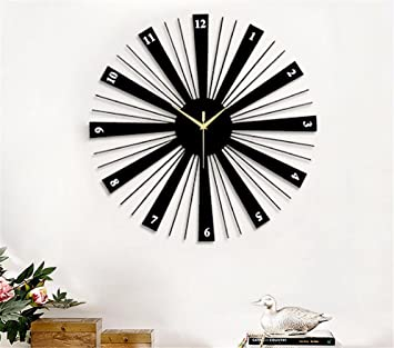 Reloj de pared nórdico moderno reloj de pared de reloj de cuarzo silencioso minimalista creativo moderno salón decorativo: Amazon.es: Hogar