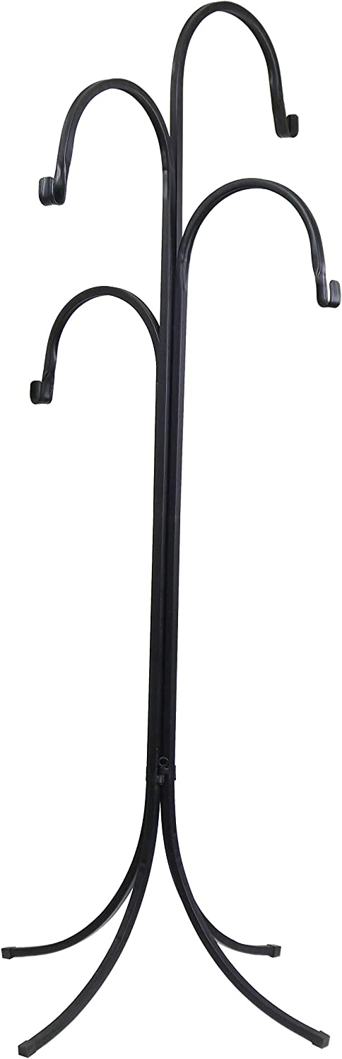 Classic Home and Garden H18003 Four-arm Plant Stand, Black