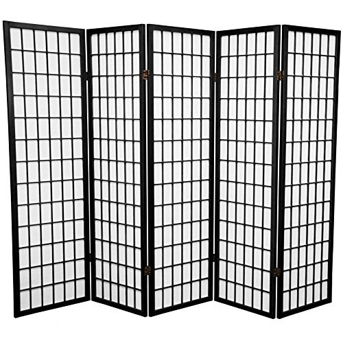 Panel Shoji Screen Room Divider 3 - 10 Panel (5 panel, Black, White, Cherry , Natural)