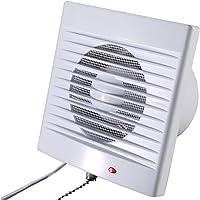 Ventilador de Aire Extintor de Cuarto de Baño Techo Montaje en Pared Color Blanco