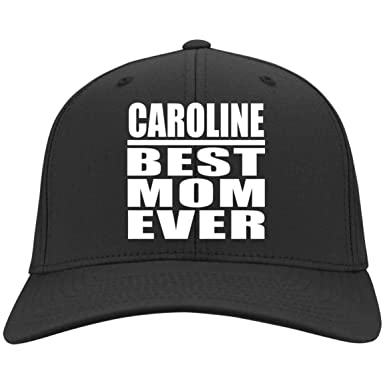 Amazon.com  Caroline Best Mom Ever - Twill Cap Black One Size  Clothing d6a06c79cd80