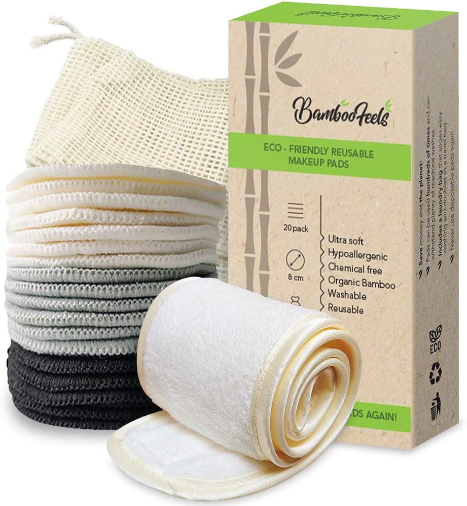 12//pack -Nature PROMOTION Multi-purpose Bamboo Washable and Reusable Cloth Wipes