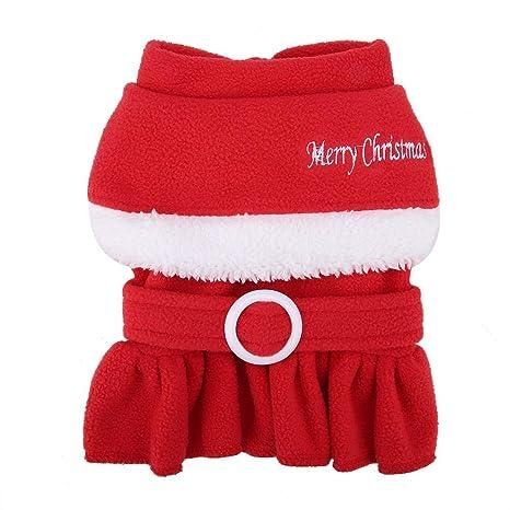 Fdit Traje de Mascota de Navidad Papá Noel Abrigo de Perro ...