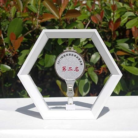 Marco de medalla Marco de fotos hexagonal Caja expositora Insignias Caja exhibición medallas Medalla Marathon Frame Military Medal Stand de exhibición Para varias exhibiciones de medallas(8 pulgadas): Amazon.es: Hogar