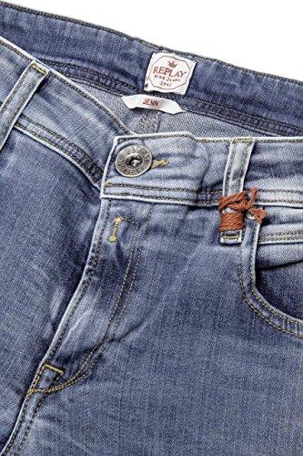 Green Chiaro Denim A 10 Blu Jeans Cast 5 Gamba Power Diritta Stretch Jenn Oz Replay 6wHq877