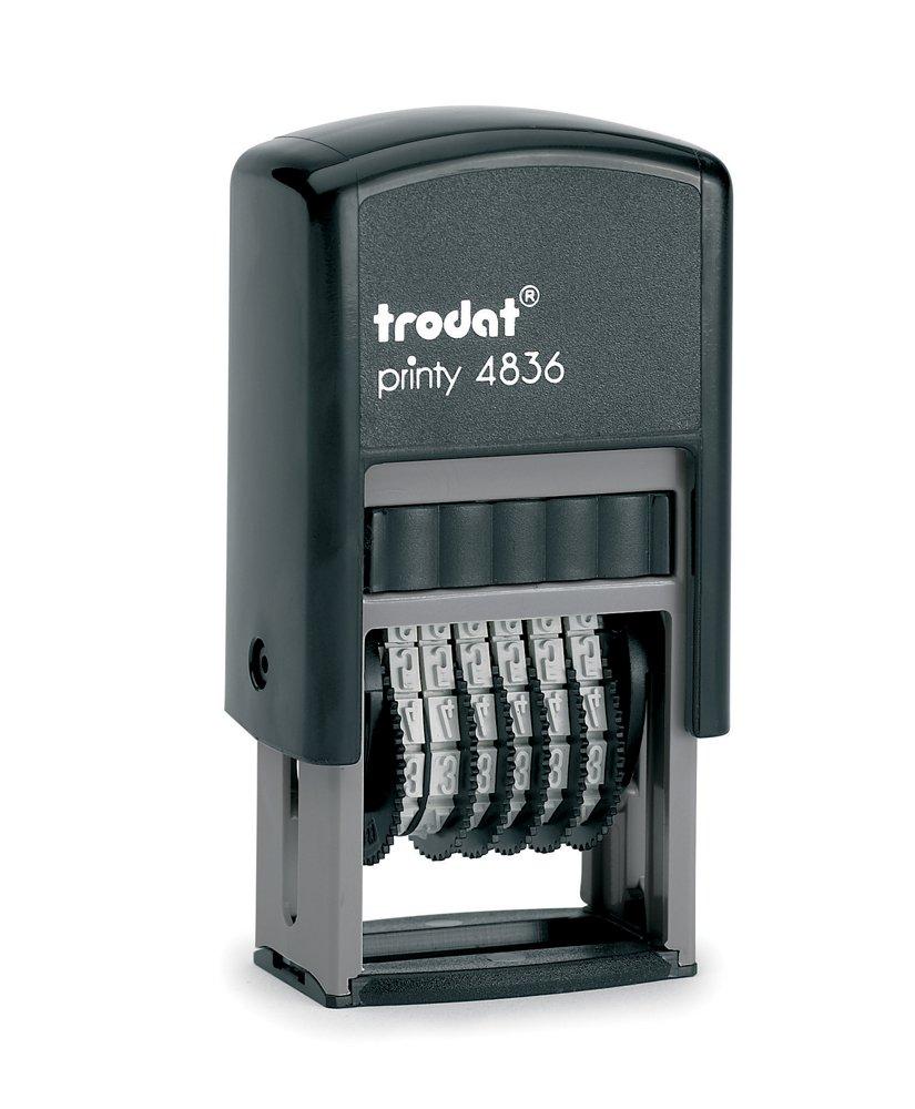 Trodat Printy 4836 - Sello para cifras (6 cifras, tamaño de tipo 3,8 mm) color negro 97