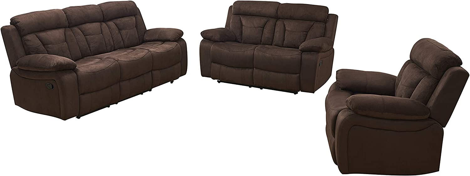 Best Luxury and Comfortable: Betsy Best Soft Microfiber Sofa Set with Loveseat.