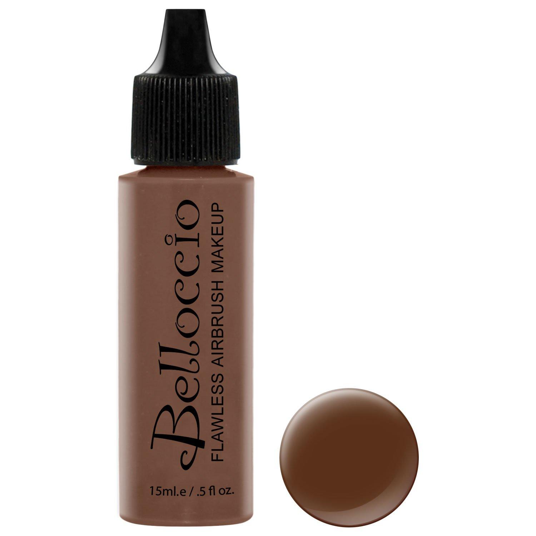 Belloccio's Professional Cosmetic Airbrush Makeup Foundation 1/2oz Bottle: Espresso- Dark with Red Undertones
