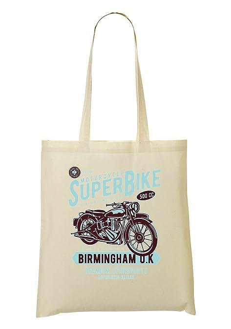 Super Bike Motorcycle UK racing Club Birmingham Premium Spareparts Bolso De  Mano Bolsa De La Compra  Amazon.es  Zapatos y complementos 559b6654045d1