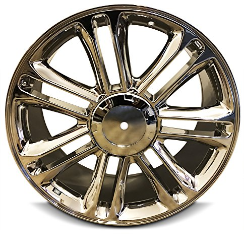 New 22 Inch Cadillac Escalade ESV EXT 6 Lug Replacement Chrome Wheel Rim 22x9 Inch 6 Lug 78.1mm Center Bore 31mm Offset - OEM: 9597224