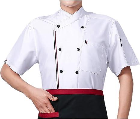 Camisa de Cocinero Manga Corta Unisexo: Amazon.es: Ropa y accesorios