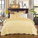 yellow quilt queen - Tache 5 Piece Quilted Yellow Buttercup Puffs Bedspread Set, Queen