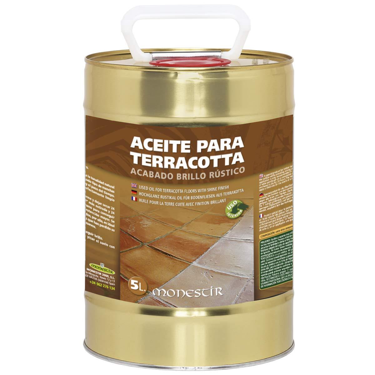 Aceite para suelos Terracotta o Barro. Acabado brillo rú stico. Monestir (1 L)
