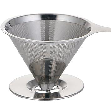 prokth filtro de café, 304 Acero Inoxidable Cone Dripper ...