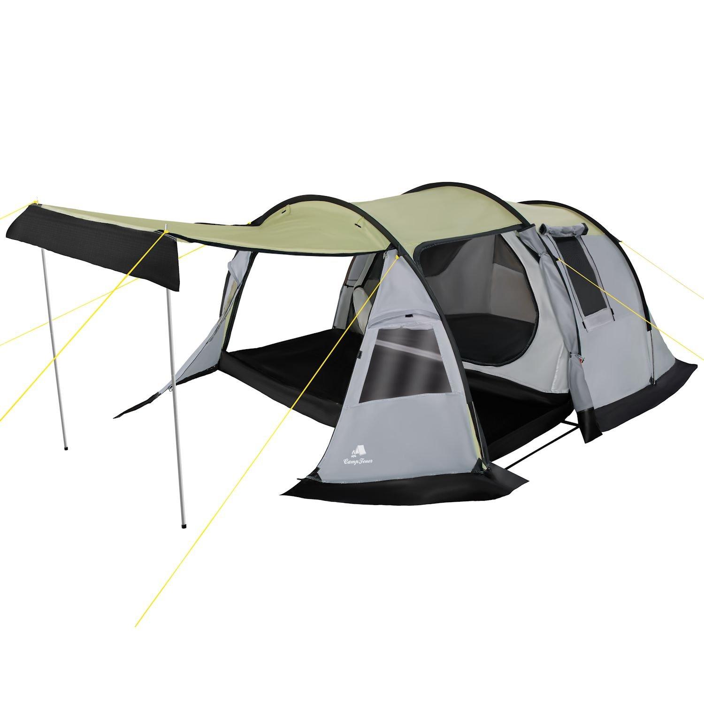 CampFeuer - Tunnelzelt, grau, 3 Personen, Campingzelt, 3000 mm Wassersäule