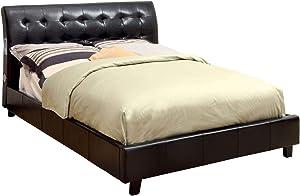 William's Home Furnishing CM7057F-HB Hendrik Full Bed headboard with Bluetooth Speaker, Espresso