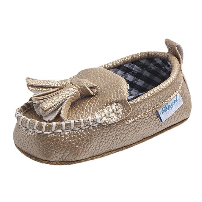 ❤ Zapatos Bebe niños con Suela,Recién Nacido Infantil bebé Doble Suela Suave de Cuero Solo Pisos Casuales Pisos Absolute: Amazon.es: Ropa y accesorios